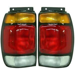 Set Of 2 Tail Light For 95 97 Ford Explorer Limited Lh Rh