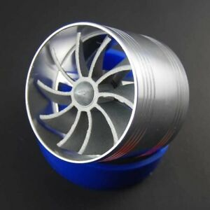 Car Rubber Single Turbo Turbine Charger Cool Air Intake Fuel Gas Saver Fan Hot