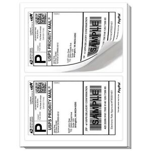 1000 Paypal Shipping Labels 2 Per Page 8 5x5 5 Fast Best Quality