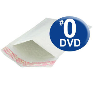 250 Qty Size 0 6 5x10 Kraft White Bubble Mailers Dvd Size ships Today
