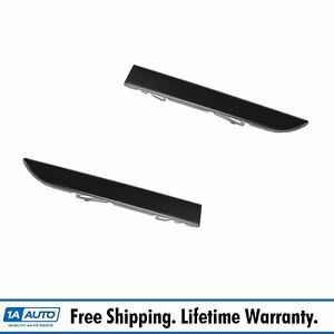 Lower Grille Filler Panel Smooth Black Pair Set For 01 04 Toyota Tacoma