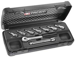 Facom 9pc 3 8sd Metric Socket Bit Set Jt 415e