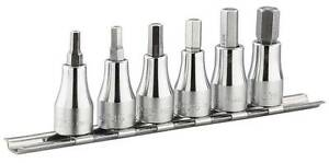 Facom 3 8sd Hex Socket Bit Set On Rail 4 10mm Jt 40