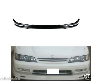 94 95 Honda Accord Mug Style Pu Black Add on Front Bumper Lip Spoiler Chin