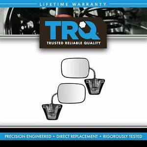 Chrome Manual Side View Mirrors Left Lh Right Rh Pair Set For Pickup Truck