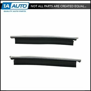 1 4 Quarter Window Outer Belt Molding Pair Set For El Camino Caballero Sprint