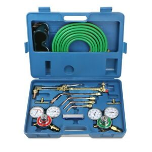 Welding Kit Victor Type Oxygen Acetylene Cutting Torch Burner W 15 Twin Hose