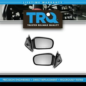 Black Side Manual Mirrors Pair Set For 95 05 Cavalier Sunfire 2 Door Coupe