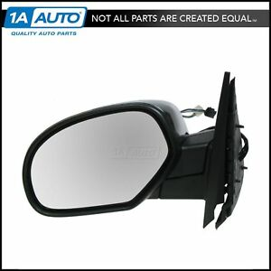 Chrome Power Folding Heated Side Mirror Driver Left Lh For 07 13 Chevy Truck