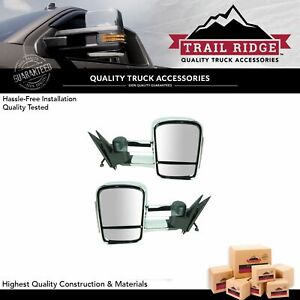 Trail Ridge Towing Mirror Power Heated Signal Chrome Pair For Silverado Sierra