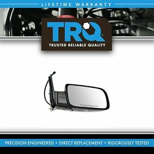 Trq Mirror Side View Power Black Folding Passenger Right For Chevy Gmc Truck