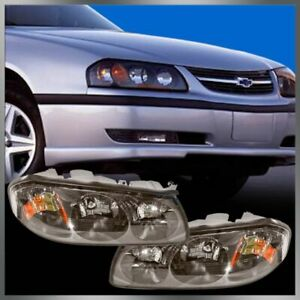 Headlights Headlamps Left Right Pair Set For 00 04 Chevy Impala