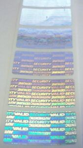 500 Svag 75 X 1 5 Hologram Tamper Evident Warranty Label Seal Stickers
