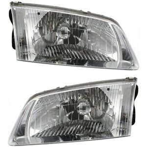 Headlight Set For 2000 2001 2002 Mazda 626 Left And Right With Bulb 2pc