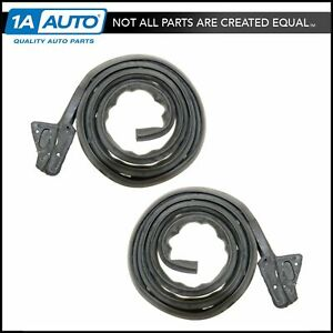 Door Seals Weatherstrip Rubber Pair Set Of 2 For Dart Barracuda Scamp Valiant