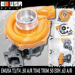 Yellow Emusat3 t4 Hybrid Turbo Charger 50 A r Compressor 63 A r Turbine Wheel