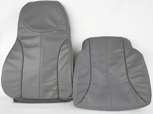 International Air Ride Seat Cover Driver Backrest And Bottom Combo gray