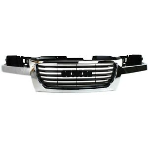 Grille For 2004 2012 Gmc Canyon Chrome Shell W Black Insert Plastic