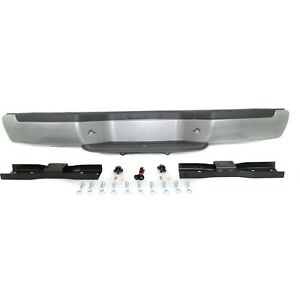 Step Bumper 01 04 For Nissan Frontier Silver Steel W Brackets pads Fleetside