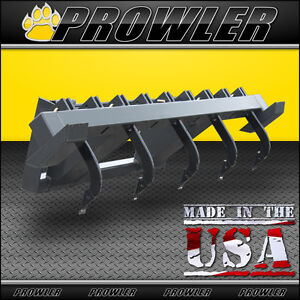 60 In Skid Steer Ripper Scarifier Attachment Adjustable Shanks Fits Bobcat Etc