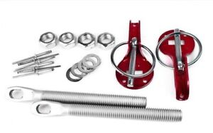 Stainless Hood Pin Set Red Hardware Fits Chevy Ford Mopar Drag Racing Race
