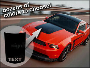 2010 2011 2012 2013 Ford Mustang Hood Buldge Stripe Decal Gt Style 1