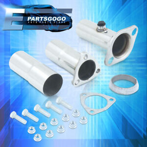 For 90 01 Ls Rs Gs Gsr B16 B18 2 5 Adjustable Cat Exhaust Pipe Converter 3p Set
