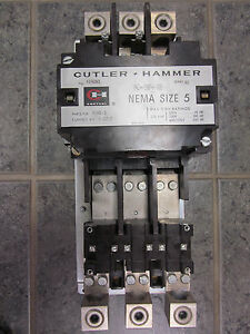 Cutler Hammer A10gno Size 5 Starter With 120 V Coil