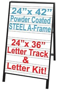 Uniko Message Board Sidewalk Menu Sign Letter Kit Black Letters Red Numbers