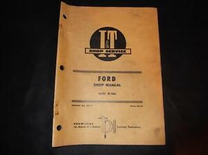 Ford Series 8000 Tractor I And T Shop Service Manual