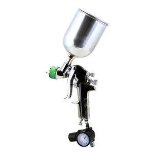 1 5mm Hvlp Gravity Feed Spray Gun Air Painting Clear Coat Compressor W Regulator