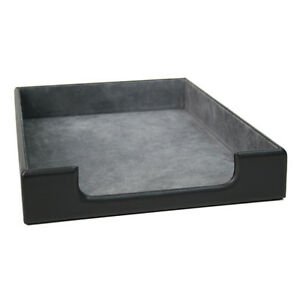 Royce mansfield Collection Leather Desk Letter Tray Genuine Leather Black
