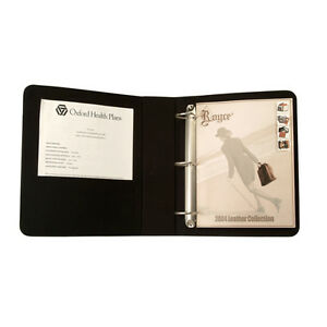 Royce Leather 2 Inch d Ring Binder Premium Bonded Leather Black