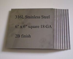 10 Pc 6 x6 18ga 316l Stainless Steel Plates For Hho Parts
