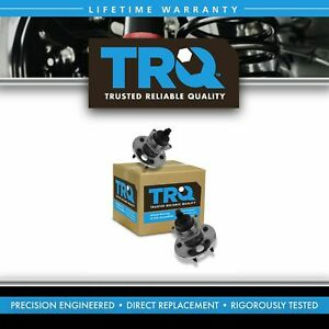 Trq Rear Wheel Hubs Bearings W abs Pair For Buick Cadillac Chevy Olds Pontiac