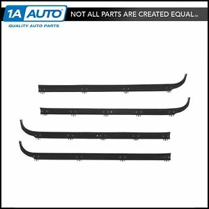Inner Outer Window Sweep Felts Seals Weatherstrip 4 Pc Kit Set For Ford Truck