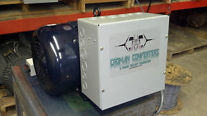 New 40hp 3 Phase Cnc Rotary Phase Converter 10 Year Warranty