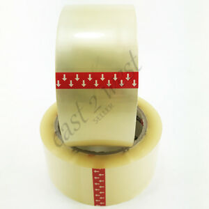 6 Rolls Carton Sealing Shipping Box Packing Clear Tape 2 0 Mil 2 X 110yds