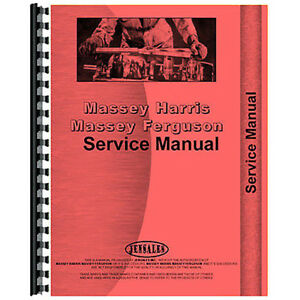 New Massey Harris 55 Tractor Service Manual with Ape Diesel Pump