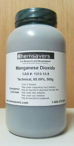 Manganese Dioxide Technical 85 09 Certified 500g