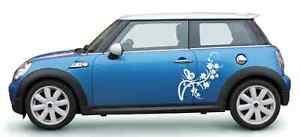 Car Vehicle Boat Vinyl Side Graphic Decal Cute Flowers Sticker Us Seller