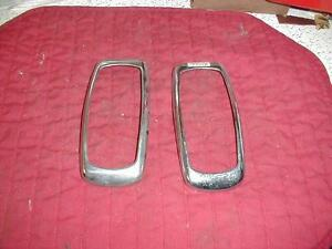 Nos Mopar 1941 Plymouth Tail Light Bezels Deluxe Standard Special Deluxe