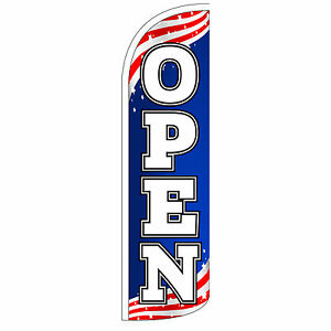 Windless Swooper Feather Flag Tall Banner Sign Only 3 Wide Open Patriotic
