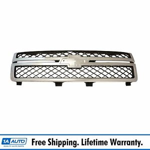 Grille Dark Gray Chrome For 11 13 Chevy Silverado 2500hd 3500