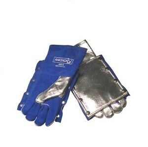 Anchor 4200al Aluminized Welding Gloves W back Pad Wool lined Nice New