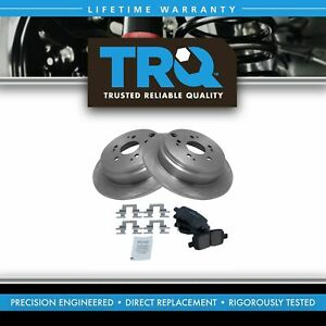Nakamoto Rear Disc Brake Pad Rotor Kit Set For 02 04 Honda Odyssey