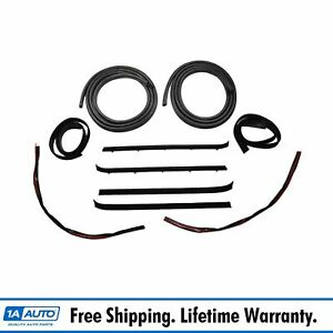 Door And Window Run Channel Sweep Felt Seal Kit For 73 80 Gmc Chevy Pickup Truck