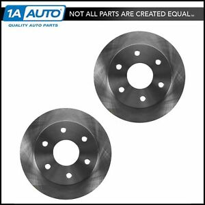 Front Disc Brake Rotor Pair Set For Chevy Gmc Cadillac Pickup 4wd 4x4