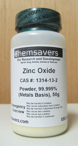 Zinc Oxide Powder 99 999 metals Basis Certified 50g