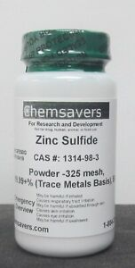 Zinc Sulfide Powder 325 Mesh 99 99 trace Metals Basis Certified 50g